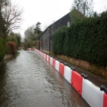 Temp Flood Barrier in Aberargie 7