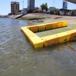 Temp Flood Barrier in Three Crosses 2